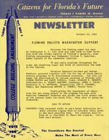 Citizens for Florida's Future - Newsletter, 1963
