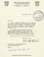 Inaugural Reservation Correspondence, 1964