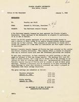 Various Memorandums, 1968