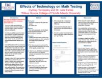 Effects on technology on math testing