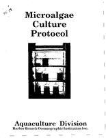 Microalgae culture protocol.