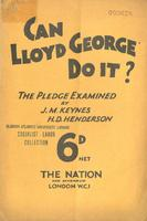 Can Lloyd George do it : an examination of the Liberal pledge.
