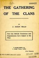 The gathering of the clans : how the British dominions and dependencies have helped in the war.