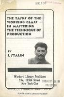 The tasks of the working class in mastering the technique of production.