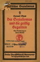 Der Sozialismus und die geistig Begabten, eine Erwiderung an Herrn Mallock übertragen von Hedda Korsch.