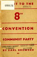 Report of the Central Committee to the eighth Convention of the Communist Party of the U.S.A.