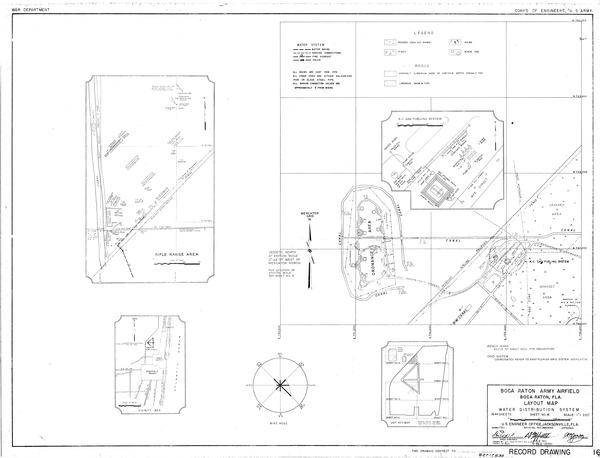 Boca Raton Army Air Field Layout Map Fau Digital Flvc Org