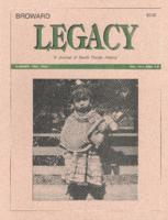 Broward Legacy, Volume 16 (Summer/Fall 1993), Number 3 and 4
