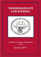 Florida Atlantic University Undergraduate Law Journal 2017