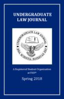 Florida Atlantic University Undergraduate Law Journal 2018.