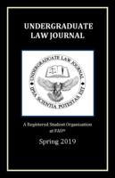Florida Atlantic University Undergraduate Law Journal 2019.