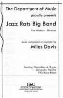 Program - Jazz Rats Big Band - November 2007