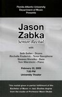 Senior  Recital by Jason Zabka (Guitar) - February 2009