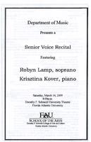 Recital by Robyn Lamp (Soprano) - March 2009