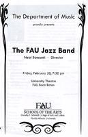 Program - FAU Jazz Band - February 2009