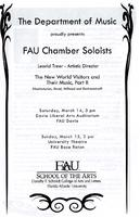 Program - FAU Chamber Soloists - The New World Visitors and Their Music, Part II - March 2009