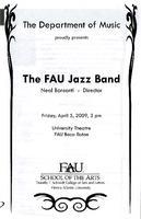 Program - FAU Jazz Band - April 2009