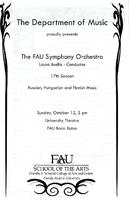 The FAU Symphony Orchestra - October 2008