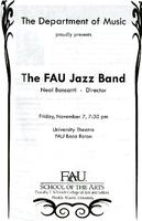 The FAU Jazz Band - November 2008