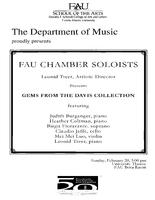 Program: FAU Chamber Soloists: Gems from the Davis Collection - Spring 2011