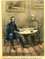 Surrender of General Lee at Appomattox Court House, 1865