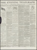 Front page of Philadelphia edition of The Evening Telegraph, April 4, 1865