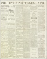 Front page of The Evening Telegraph newspaper, April 10, 1865