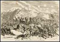 Guerre D'Amerique -- Assaut donne le 15 janvier au fort Fisher par les troupes de terre et de mer de l'armee federale