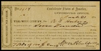 Confederate States of America 1864 registered bond Lynchburg Office