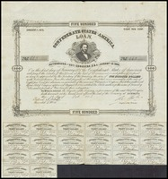 Confederate States of America Loan No. 663, 1863