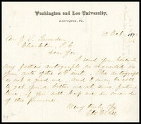 To J.L. Snowden from George C. Lee, 1872