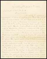 To Colonel Robert N. Scott from Jubal Early, 1886