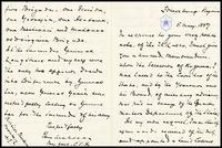 To Lida Thackeray from Mahone, 1887