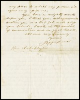 Letter from Jefferson Davis to A.M. Clayton, 1861