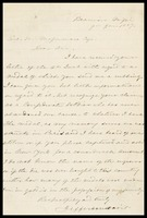Letter from Jefferson Davis to [Gen. Mapamore], 1887