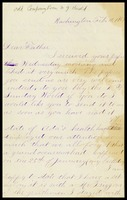 A.J. [Alfred] Clarke, in D.C., to his father, William, in N.Y.