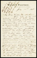 Willie [Will Clarke], on Treasury Department in D.C. letterhead, to his Father and Mother, in England