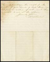 William D. Postal, on Ordnance Office of War Department letterhead, to Will [Clarke]