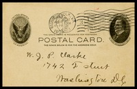 A.J. [Alfred Clarke], in Norfolk, Va, to his brother, Will, in D.C.
