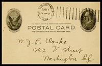 A.J.C. [Alfred Clarke] in St. Augustine, FL to his brother, Will, in D.C.