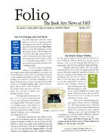Folio: The Book Arts News at FAU Libraries.