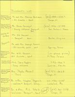 Florida Atlantic University Historical Files: H. Popovich Inauguration, Guest List
