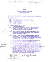 Florida Atlantic University Historical Files: Advisory Committee Meeting, July 18-19, 1960