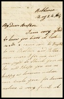 Mary Ann, in [illegible town] England, to her brother William [Clarke] in Taunton, Somersetshire, England