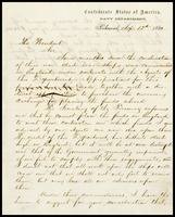 To President Buchanan from Stephen Mallory, 1862