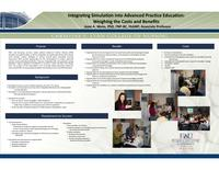 Integrating simulation into advanced practice education: weighing costs and benefits