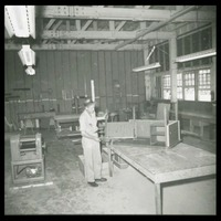 Building a Desk in the Carpentry Shop, 1967