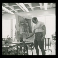 Art Student Painting the Studio, 1967
