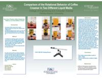 Comparison of the Rotational Behavior of Coffee Creamer in Two Different Liquid Media