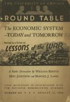 The economic system today and tomorrow: Lessons of the war: A reply